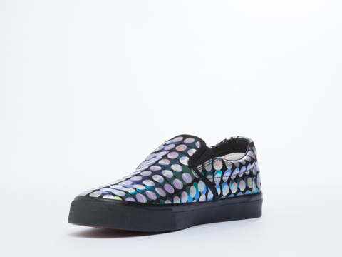 Starstyling Berlin In Black Silver Reptile Camou Slip On
