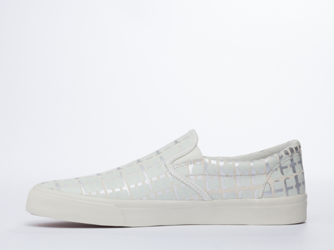 Starstyling Berlin In White Glow Silver Camou Slip On