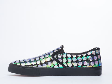 Starstyling Berlin In Black Silver Reptile Camou Slip On Mens