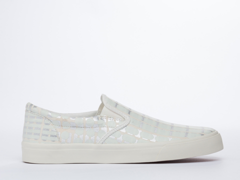 Starstyling Berlin In White Glow Silver Camou Slip On Mens