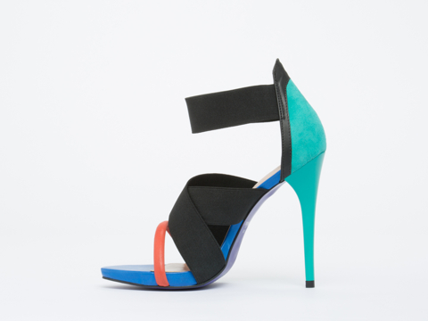 Studio Tmls In Black Jade Heron Sandal