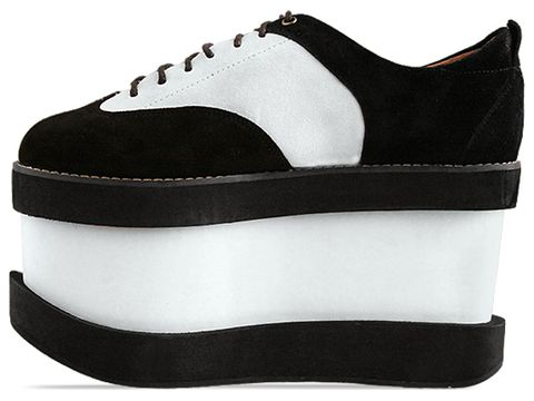 Substitute In Black Suede Ivory Suede Jump Up