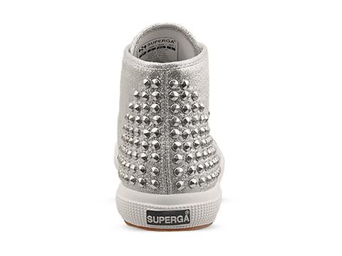Superga In Silver 2095 Lame Studs