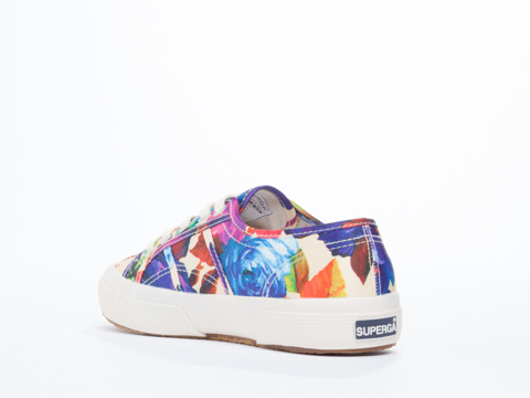Superga In White Floral 2750 COTU Floral
