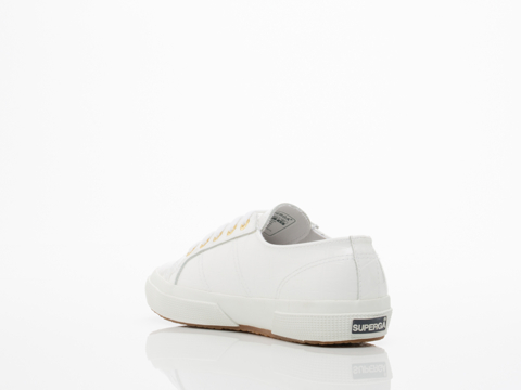 Superga In White Patent 2750 Patent Croc W