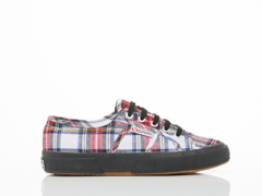 Superga In White Multi 2750 Tartan
