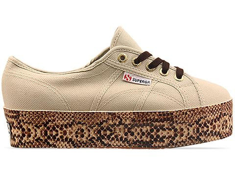 Superga In Ivory 2790 Viper Foxing