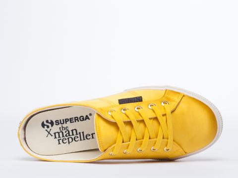 Superga X Man Repeller In Mustard 2288 Satin