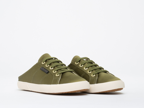 Superga X Man Repeller In Olive 2288 Satin