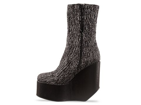 Surface To Air In Grey Fabric Black Leather Blast Boots
