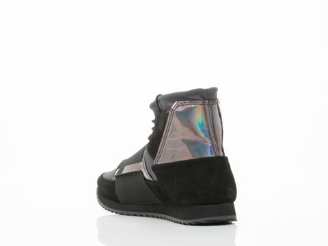 Swear In Black Suede Anthracite Nylon Dark Iridescent Andie 2