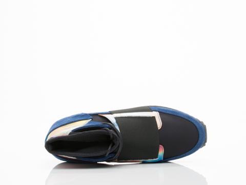 Swear In Blue Suede Black Nylon Marble 2 Print Andie 2
