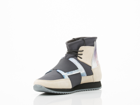 Swear In Light Grey Suede Anthracite Nylon Marble 1 Print Leather Andie 2