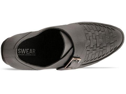 Swear In Grey Leather Cedric 3 Mens