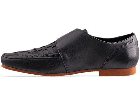 Swear In Navy Leather Cedric 3 Mens