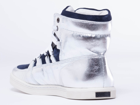 Swear In Silver Mirror Leather Duke 4 Mens