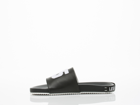 Swear X Les (Art)ists In Black Smooth Leather Slide Womens