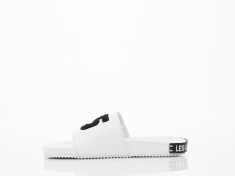 Swear X Les (Art)ists In White Smooth Leather Slide Womens