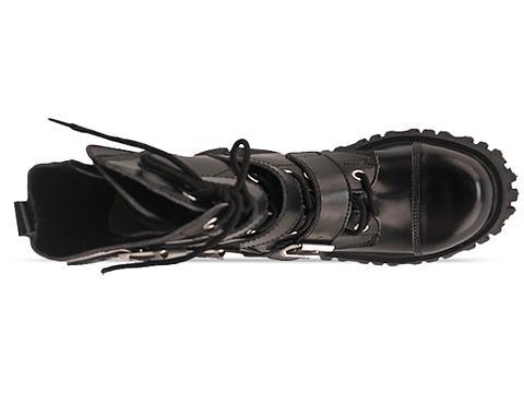T.U.K. In Black 3 Strap Boot Mens
