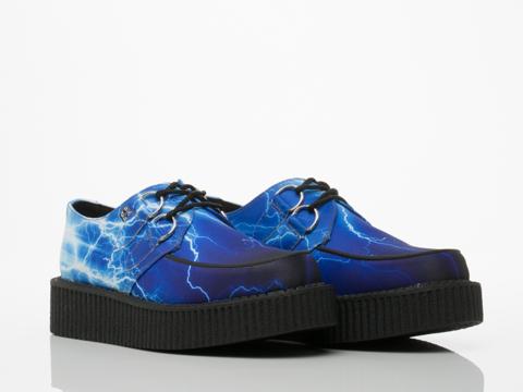 T.U.K. In Blue Lightning Low Creeper