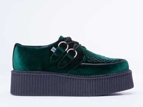 T.U.K. In Green Velvet Mondo Creeper