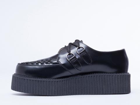 T.U.K. In Black Leather Mondo Creeper Mens