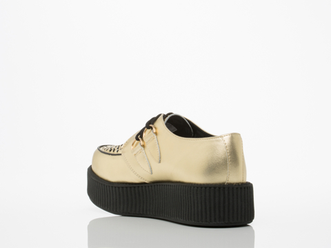 T.U.K. In Gold Mondo Creeper Mens