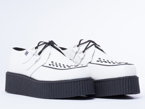 T.U.K. In White Mondo Creeper Mens