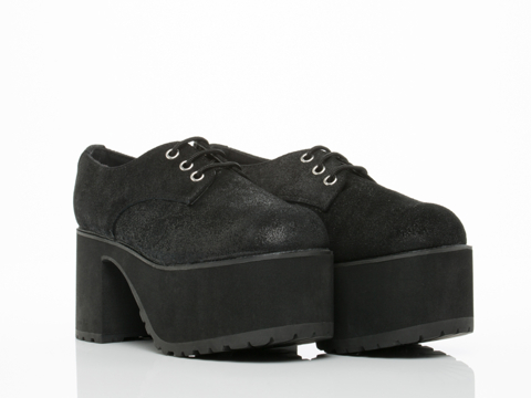 T.U.K. In Black Nosebleed Short Creeper
