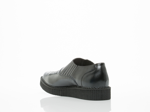 T.U.K. In Black Western Slip On Pointed Creeper Mens