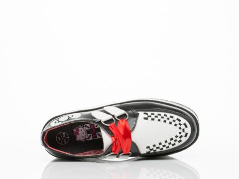 T.U.K. X Hello Kitty In Black White Bowdot Stack Creeper