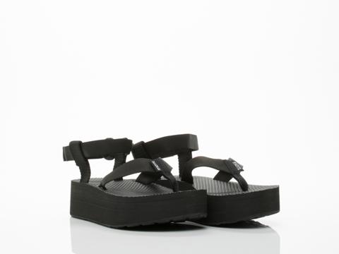 Teva In Black Flatform Sandal Womens