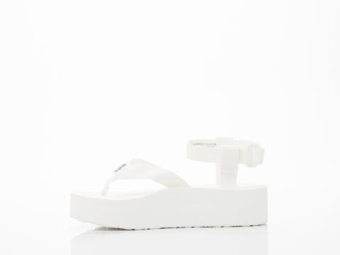 Teva In Bright White Flatform Sandal Womens