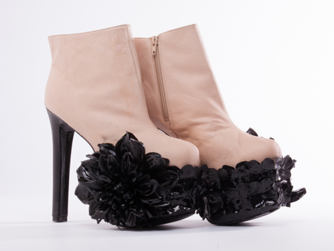 Thom Solo X Solestruck In Nude Black Dahlia Boot