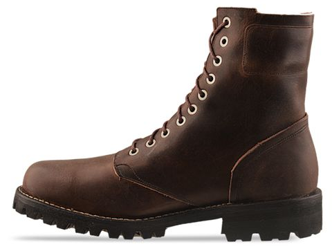 Timberland Boot Company In Dark Brown 76121 Tackhead Patch 8 Inch Boot Mens