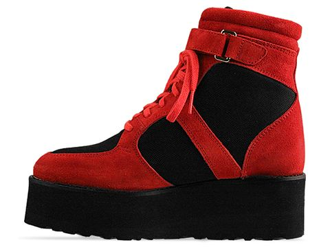 To Be Announced In Red Black Suede Dungeon