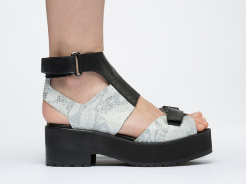 To Be Announced In Black Leather Grey Python Emerson
