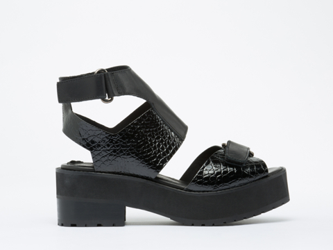 To Be Announced In Black Leather Patent Emerson