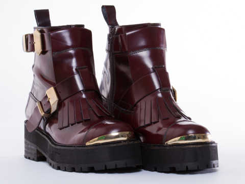 To Be Announced In Burgundy Leather Felony