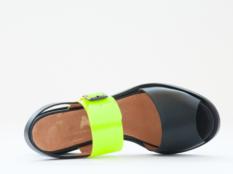 To Be Announced In Black Leather Neon Yellow Fiji