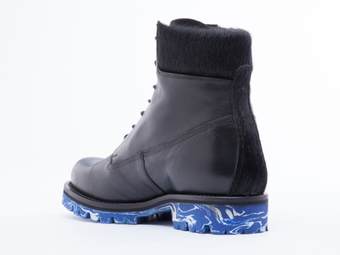 To Be Announced In Black Leather Blue Marble Gift