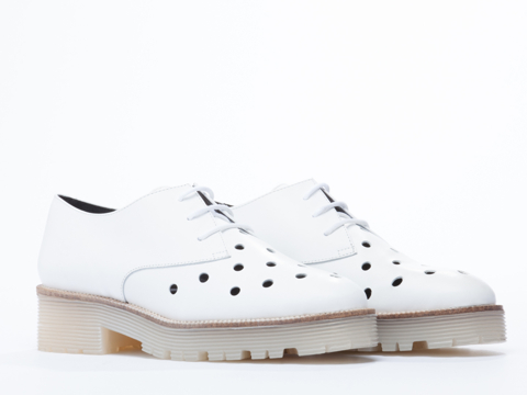 To Be Announced In White Leather Punch Lacey 2