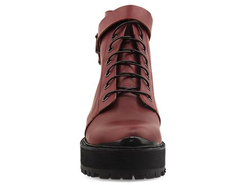 To Be Announced In Burgundy Leather Rocks