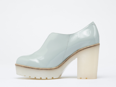 To Be Announced In Grey Patent Sharp