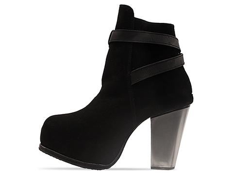 Tusk In Black Suede Silver Juniper Heel