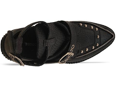 Underground In Black Snake Leather Bowie Cut Out