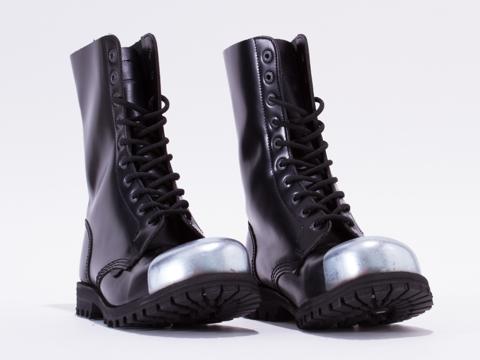 Underground In Black Box Leather Commando Ext Cap