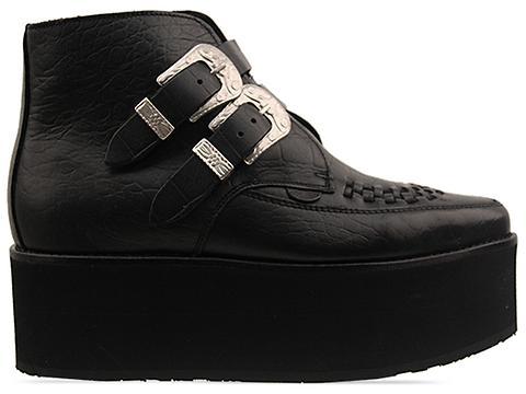 Underground In Black Croc Leather Croc Boot Mens