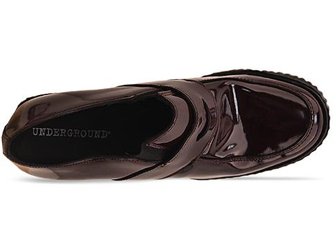 Underground In Burgundy Patent Wedge Loafer