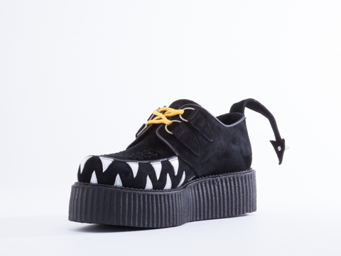 Underground X Daniel Palillo In Eye And Teeth Black Suede Camaro Mens